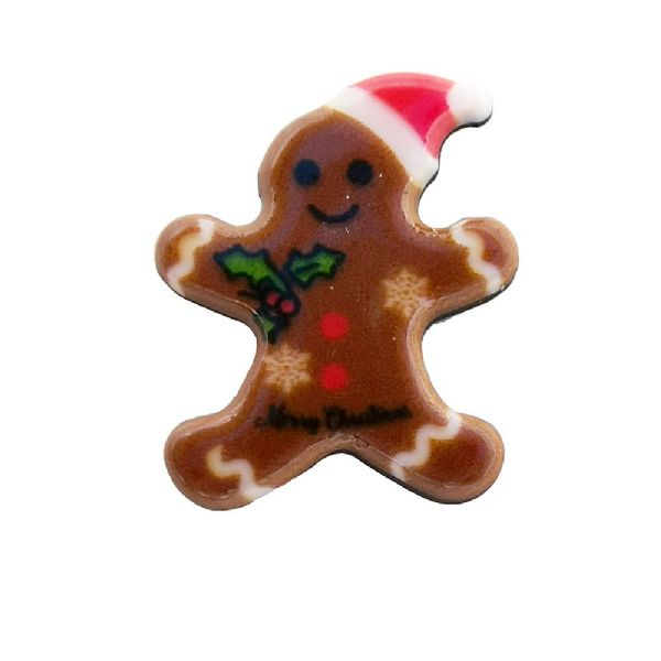 Gingerbread Man  Acrylic Flat Back Christmas Charm 12mm x 15mm
